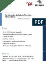 Fundamentos de Calculo Numerico Apresent