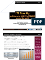 LTE Take Up and interest in 1800 MHz (LTE1800) around the world