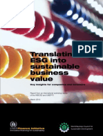 Translating ESG into sustainable business value - UNEPFI -2010