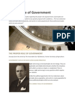 Proper Role of Government v2