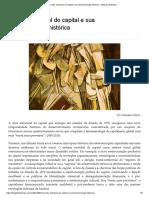 A crise estrutural do capital e sua fenomenologia histórica – Blog da Boitempo