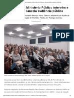 Plano Diretor_ Ministério Público intervém e Prefeitura cancela audiência pública _ Pé de Figo