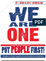 We Are One - PUT PEOPLE FIRST Rally in Olympia, April 8