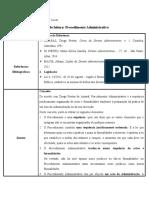 Ficha de leitura - Procedimento Administrativo