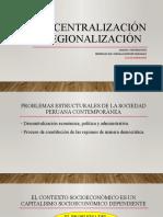 Descentralización y regionalización