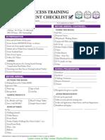 Success Training Event Checklist