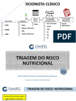 Orientação 1 - TRIAGEM DO RISCO  NUTRICIONAL