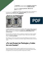 PATOLOGÍAS DE LA PIEDRA NATURAL