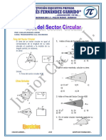 Area del sector circular 8