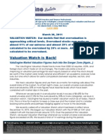 ValuEngine Market Valuation Figures Inch into the Danger Zone (Again...)