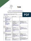 Horario V Jornadas de Filosofía Moderna (UDP)