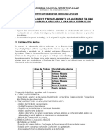 PROYECTO INTEGRADOR HIDROLOGIA APLICADA-2021-I