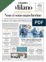 La Repubblica Milano 05 Aprile 2020