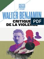 Critique de la violence _ Benjamin Walter