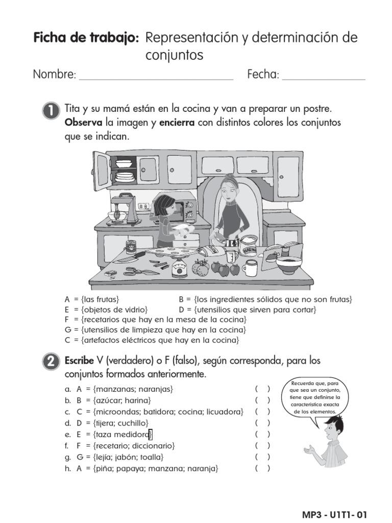 PRUEBAS DE CONJUNTOS EN MATEMÁTICAS PARA PRIMARIA