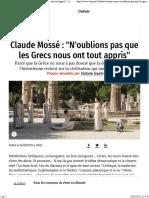 Claude Mosse n Oublions Pas Que Les Grecs Nous Ont Tout Appris 26-09-2011 1377514 2.Php