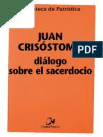057. JUAN CRISÓSTOMO - Diálogo Sobre El Sacerdocio