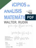 Introducción al anallisis matemático - Walter Rudin