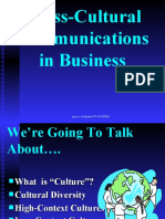 Cross-Cultural Comm in Business-Prince Dudhatra-9724949948