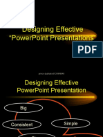 "Designing Effective ""PowerPoint Presentations-prince dudhatra-9724949948"