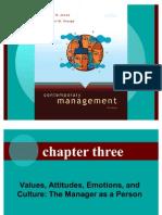 Values, Attitudes, Emotions & Cultures