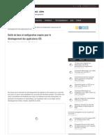 Outils de Base Et Configuration Requise Pour Le Développement Des Applications IOS