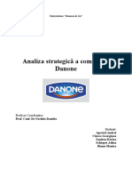 Analiza Strategica a Grupului Danone