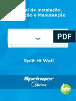 Manual de Instalacao Springer Midea AirVolution (Esse é o Escolhido)