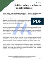 o Guia Definitivo Da Aplicabilidade e Eficacia Das Normas Constitucionais