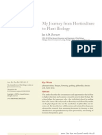 My journey from horticulture to plant biology by Jan A.D. Zeevaart