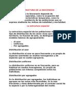 ESTRUCTURA DE LA BIOCENOSIS