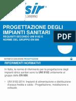 Progettazione Degli Impianti Sanitari Requisiti Secondo Uni 9182 e Norme Del Gruppo en 806