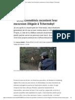 Deux Grenoblois Racontent Leur Excursion Illégale à Tchernobyl
