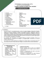 SILABO COMPETENCIA. FISICA IV 2021-I