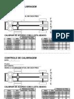 MODELOS DE controle de calibragem