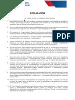 Declaración final del Plenario del Frente Amplio