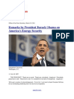 Remarks by President Barack Obama on America's Energy Security