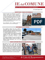 Notizie Dal Comune di Borgomanero del 6-08-2021