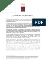 An Important Amendment to the FMLA