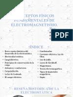 Conceptos físicos fundamentales de electromagnetismo final