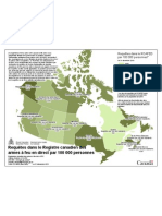 Requêtes dans le Registre canadien des armes à feu en direct par 100 000 personnes