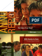 Bible League of Canada - Annual Report 2010