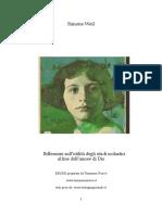 Simone Weil - L'Utilità Degli Studi Scolastici Al Fine Dell'Amore Di Dio