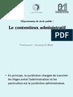 Le Contentieux Administratif - Pr El Maki Assaraji