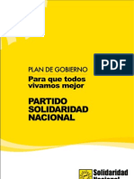 Plan de Gobierno de Solidaridad Nacional - Luis Castañeda Lossio