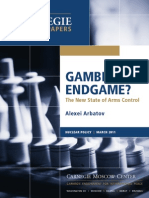 Gambit or Endgame? The New State of Arms Control