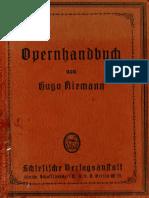 Riemann, Hugo - Opern-Handbuch (Leipzig, C.a. Koch, 1887)