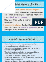 A brief history of HRM