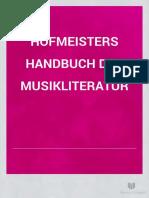 Hofmeister, Friedrich - Handbuch Der Musikliteratur (Leipzig, 1881)