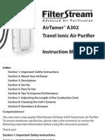 FilterStream A302 Manual